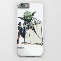 iPhone & iPod Case featuring Retro Yoda 2 by InvaderDig