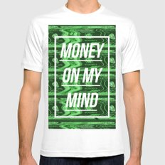 Money On My Mind Mens Fitted Tee SMALL White