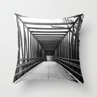 Bridge To Nowhere Black … Throw Pillow