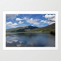Pearl Lake Mountain View Art Print