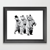 Funky Bears Framed Art Print