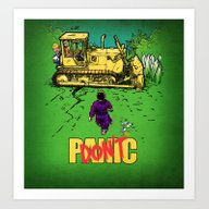Art Print featuring Don't Panic by Billy Allison