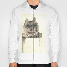 cat on the table Hoody