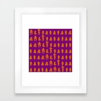 Dip & Come Up - June Plu… Framed Art Print