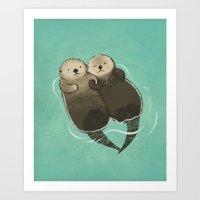 Significant Otters - Ott… Art Print