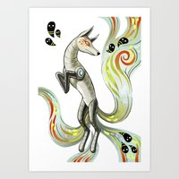 Mechanical Fox Art Print