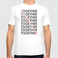 Together Mens Fitted Tee White SMALL