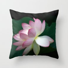 Bee line to the Lotus Throw Pillow