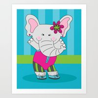 Cute, Colorful Illustrat… Art Print