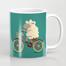 Lamb on the bike Mug