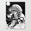 doomed astronaut Canvas Print