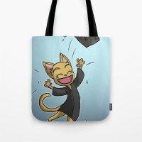 Graduate Cat Tote Bag