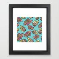 Heart And Butterflies Framed Art Print