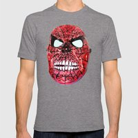 Spidey Skull Mens Fitted Tee Tri-Grey SMALL