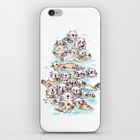 Wild family series - Otters iPhone & iPod Skin