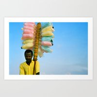 Cotton Seller Art Print