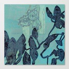 Indigo Vines Canvas Print