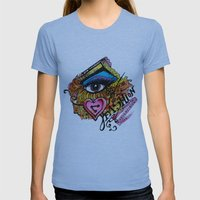 i  Womens Fitted Tee Athletic Blue SMALL