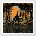 In the Evening (version 2) Art Print