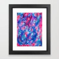 Hexagon Coloured # 1 Framed Art Print