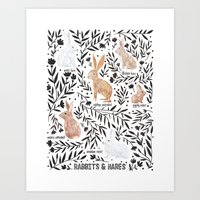 Rabbits and Hares Field Guide Art Print