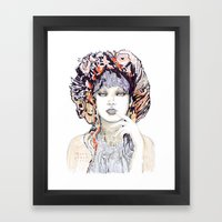 Spring Fashion Portrait Framed Art Print
