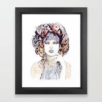 Spring Fashion Portrait Framed Art Print