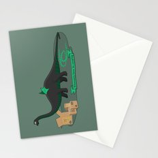 Dinosaur cosplay Stationery Cards