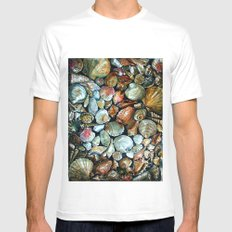 Sea shells  White SMALL Mens Fitted Tee