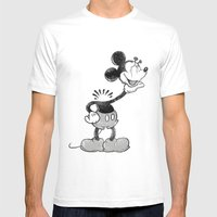 Headless Mouse Mens Fitted Tee White SMALL