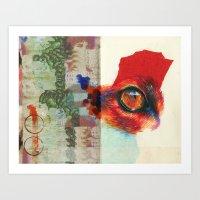 Fox Eye Art Print