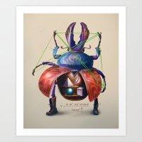 Beetle Stunt Art Print