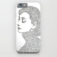 audrey hepburn iPhone & iPod Cases featuring Audrey Hepburn by S. L. Fina