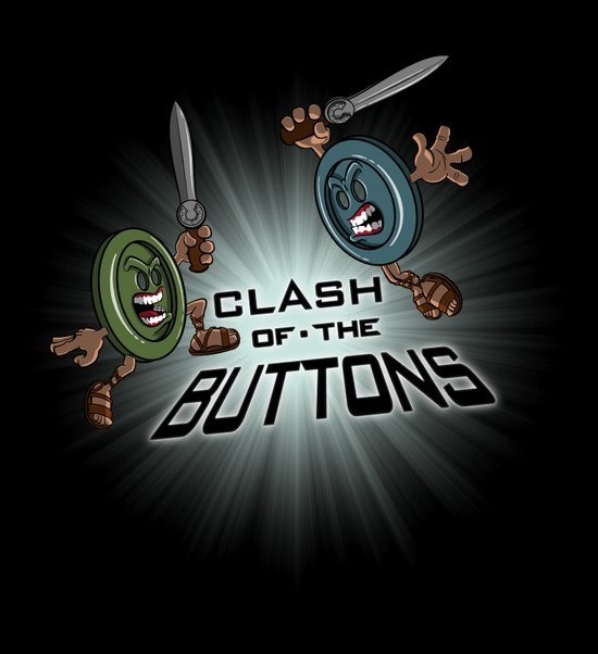 Clash of the BUTTONS! Art Print