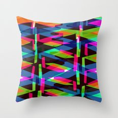 Zig Zag Triangles Throw Pillow