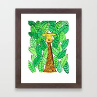 Watercolor Giraffe Framed Art Print