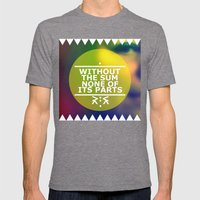 Sum and Parts Mens Fitted Tee Tri-Grey SMALL