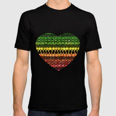 One Love Tribal {black} Mens Fitted Tee Black SMALL