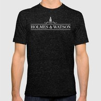 Holmes & Watson Mens Fitted Tee Tri-Black SMALL