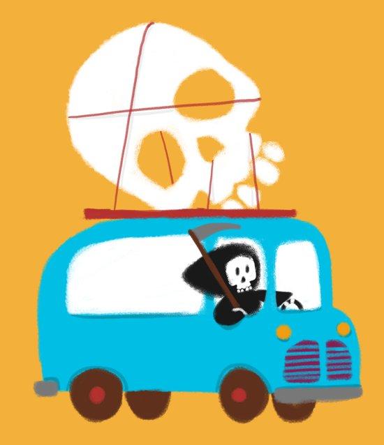 Death on wheels Art Print