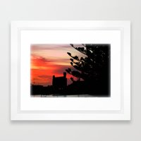 Sunrise At Port Of Portl… Framed Art Print