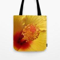 Hibiscus macro Tote Bag