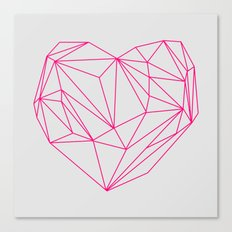 Heart Graphic Neon Version Canvas Print