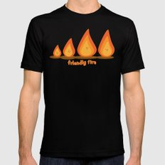 Friendly fire SMALL Black Mens Fitted Tee