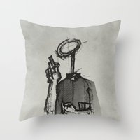 Trust With No Head And Half Finger! Throw Pillow