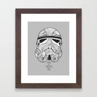 Stormtrooper: Another Drill (grey) Framed Art Print
