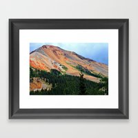 Red Mountain On The Mill… Framed Art Print