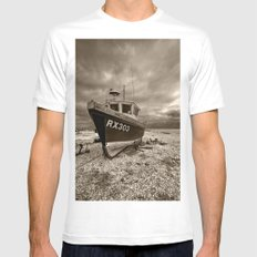 Dark Dungeness SMALL White Mens Fitted Tee