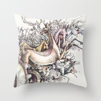Twisted Menagerie Throw Pillow