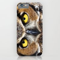 Great Horned Owl Face iPhone 6 Slim Case